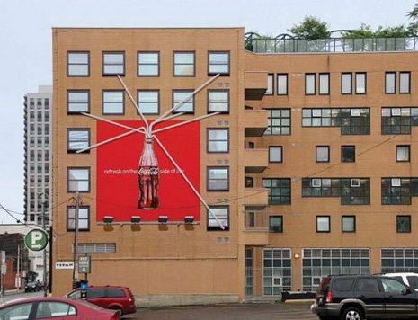 publicidad en fachada
